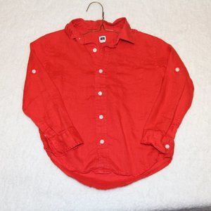 Janie and Jack Red Button Down